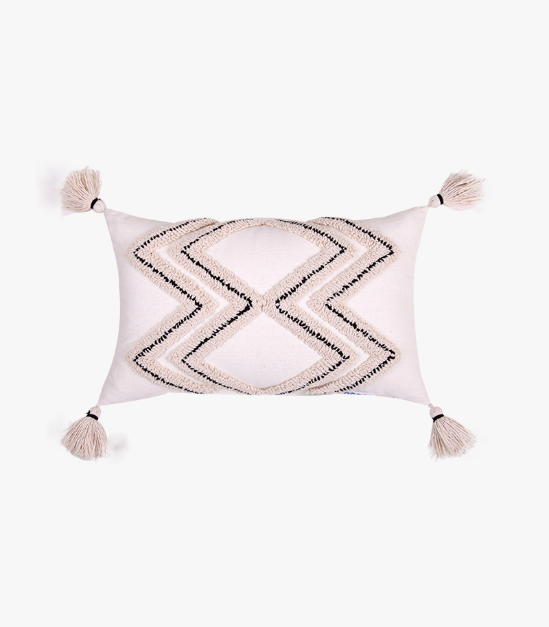 Tufted Embroidery Cushion
