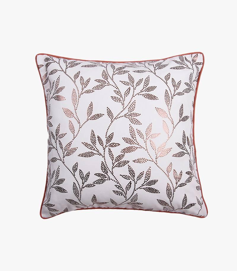 Foamed Gold Print Cushion